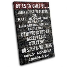 Gaming COD House Rules Typography - 13-2366(00B)-SG32-PO